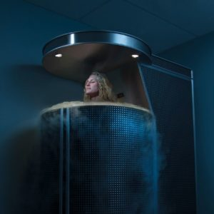 Woman in Cryotherapy Chamber