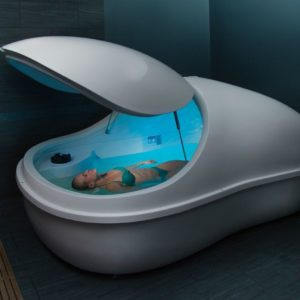 Woman in Floatation Pod