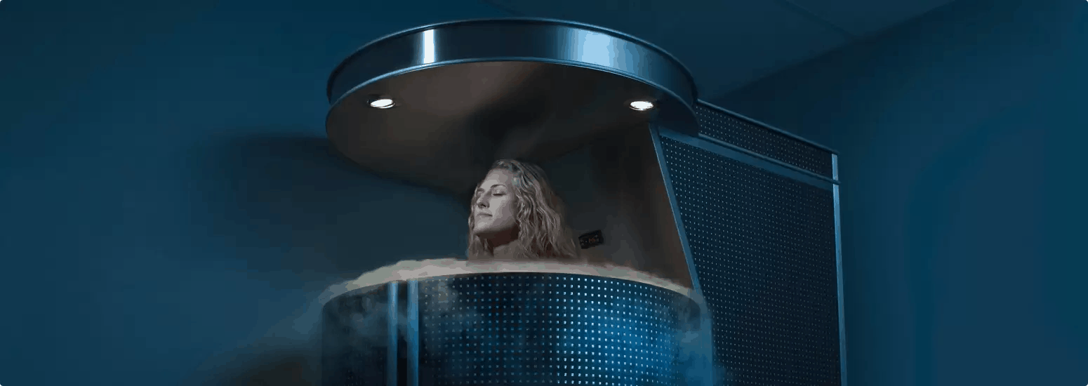 Woman receiving Cryotherapy